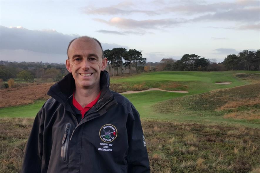 Broadstone GC head greenkeeper Martin Coward. Image: Supplied