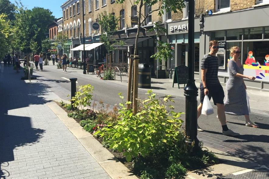 Part of London Borough of Waltham Forest winning Mini Holland project. Image: LBWF