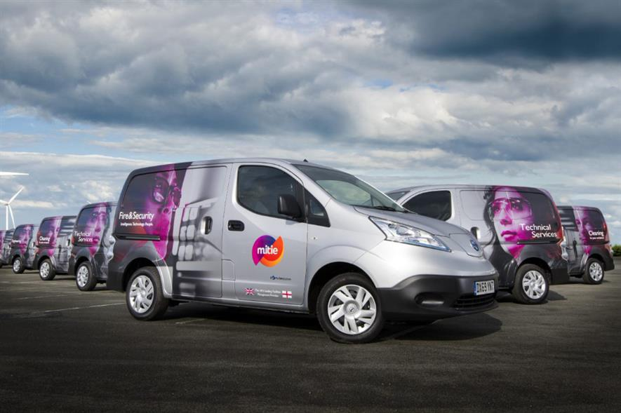 Mitie has committed to having at least 2,021 EVs in its fleet by the end of 2021 - credit: Mitie