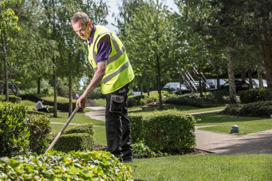 A Mitie Landscapes operative at work. Image: Mitie Landscapes