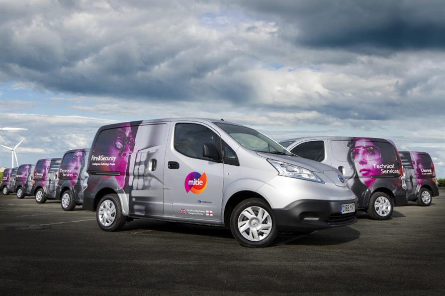 Mitie has already converted nearly 10% of its 5,500-strong fleet to electric vehicles - credit: Mitie
