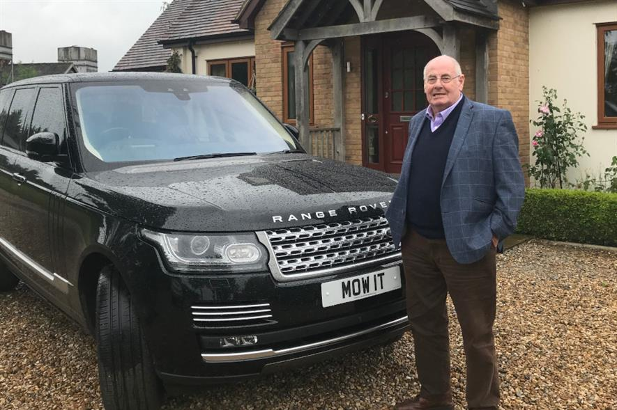 John O'Conner with his iconic 'mow it' number plate in 2019 - image: John O'Conner