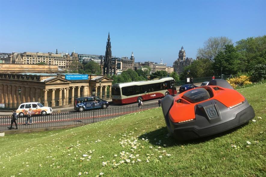 Mowbot on the Mound. Image: Edinburgh City Council