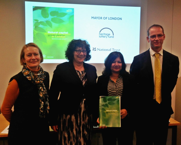 (l - r) Helen Ghosh, Ros Kerslake, Shirley Rodrigues, Robin Smale. Image: National Trust
