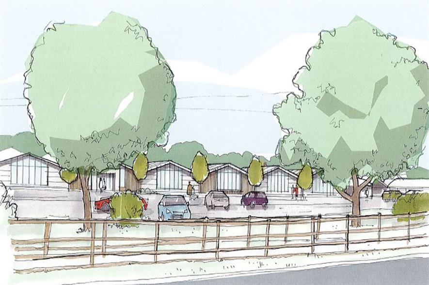 Extension to Hillier Garden Centre Newbury - image: Hillier