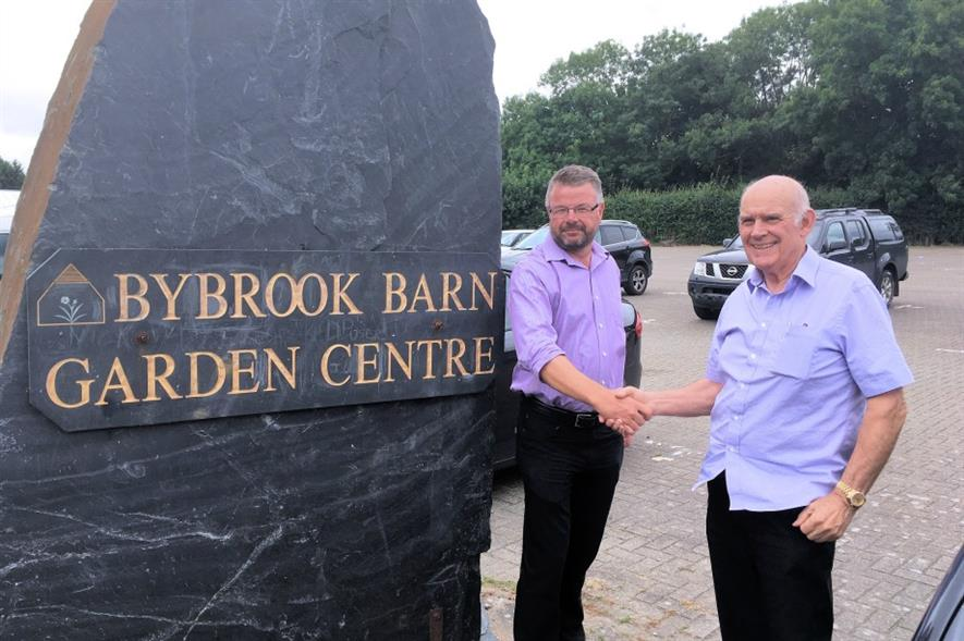 Longacres MD Nigel Long, left, with Bybrook owner Terry Burch. Image: Supplied