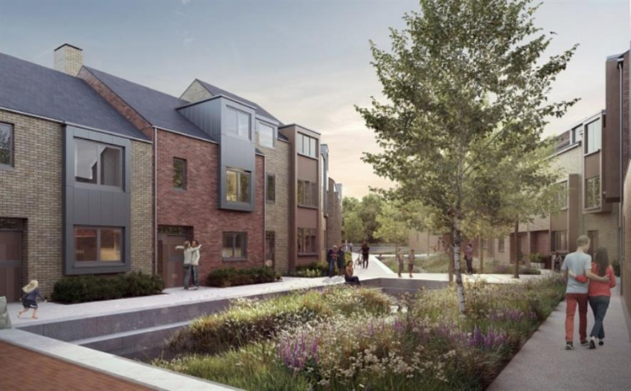 CGI of landscaping in the development. Image: North Street Quarter