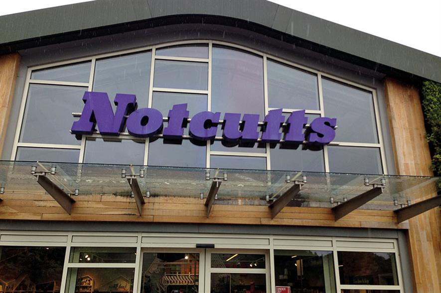 Notcutts: new restaurants will increase catering spend