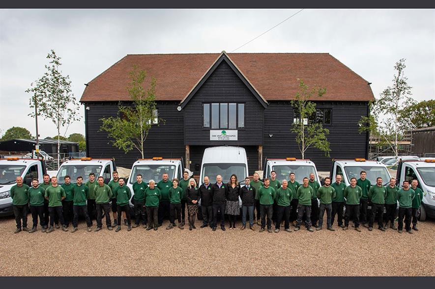The Oak View team - credit: Oak View Landscapes