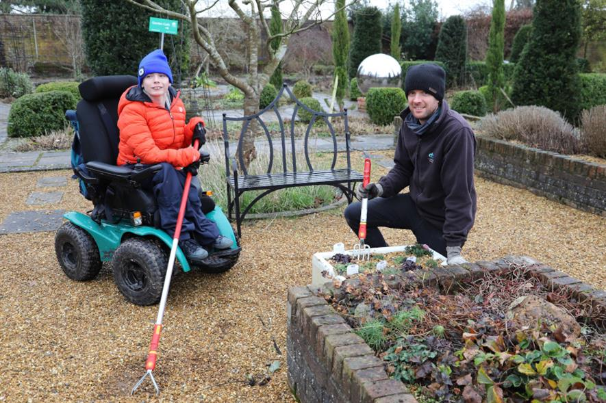 Horticultural student Oliver Burrows and teacher Will Lyon - credit: Derwen College