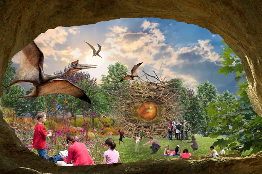 Concept image for the OurWorldBristol Golden Pterodactyl nest - credit: LDA Design