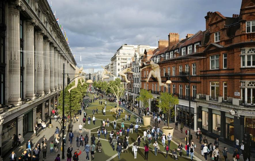 A visualisation of how Oxford Street could look. Image: Mayor of London's office