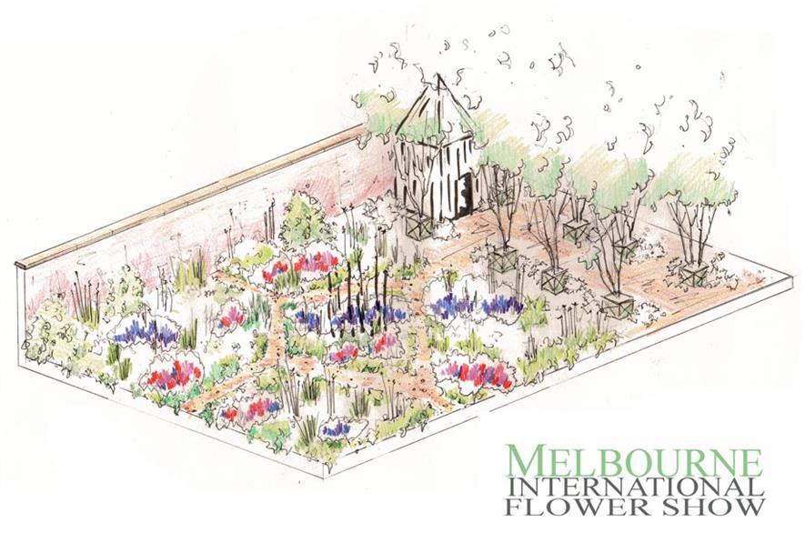 Hervey-Brooke's design for Melbourne 2016. Image: Supplied