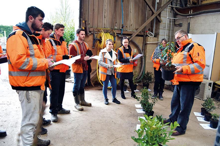 Palmstead academy: scheme includes a 'hands-on horticulture' group for all staff - image: Palmstead Nurseries