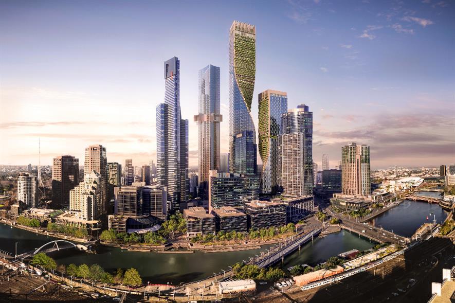 STH BNK skyscrapers design rendering - credit: Beulah International