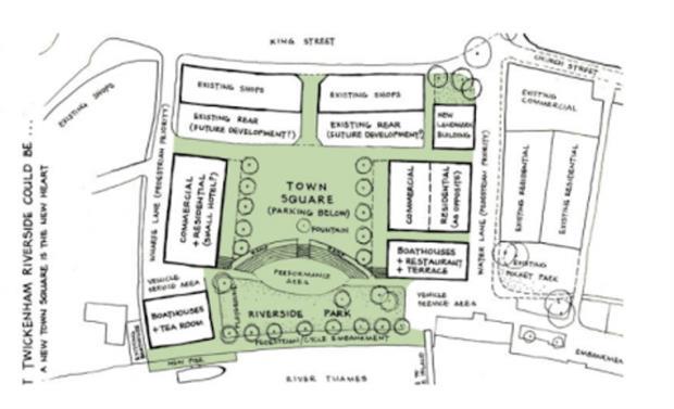 Design proposed by public campaign in 2017. Image: Twickenham Riverside Park Team