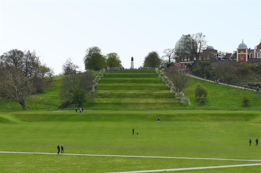Proposed parterre steps - image: The Royal Parks