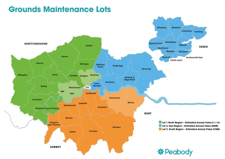 Peabody is looking for contractors for across its estate. Image: Peabody