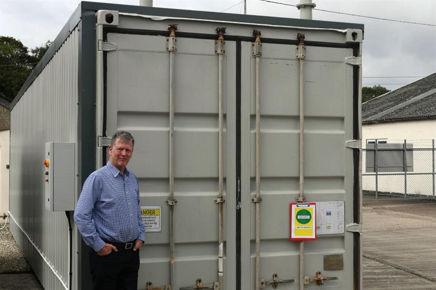 Pearson with one of the new units - image: CambridgeHOK