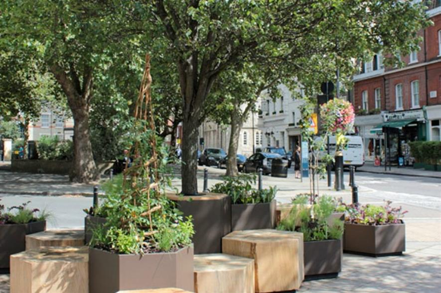 'Parklet' in Pimlico. Image: Grosvenor Estate