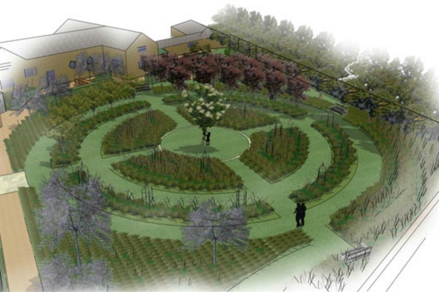 The garden will have a geometric layout Picture: Andrew Fisher Tomlin