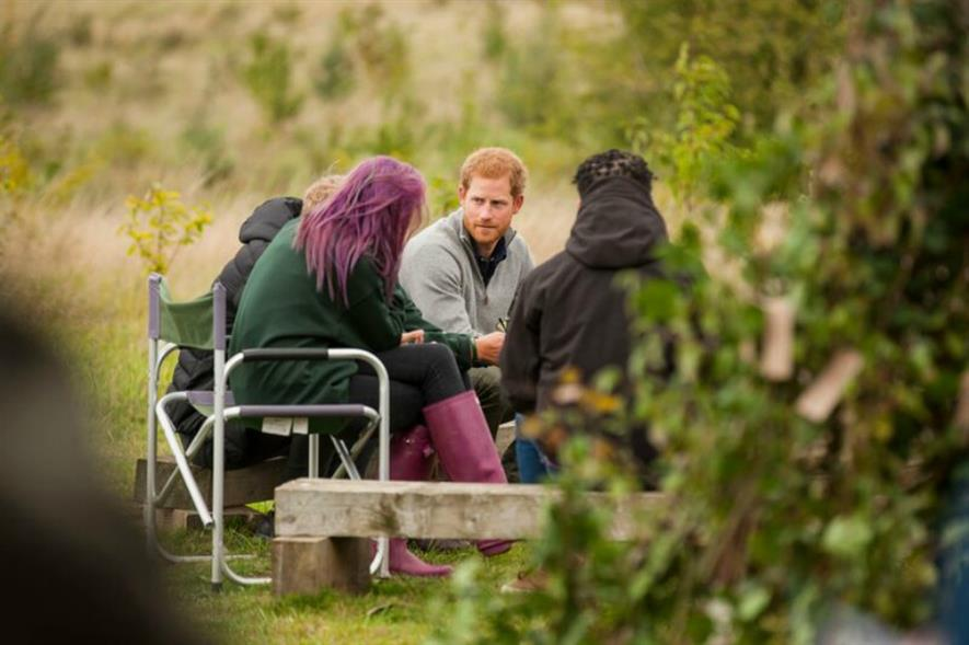 "Prince Harry was ""deeply compassionate"" of teenagers' troubles. Image: Wilderness Foundation"