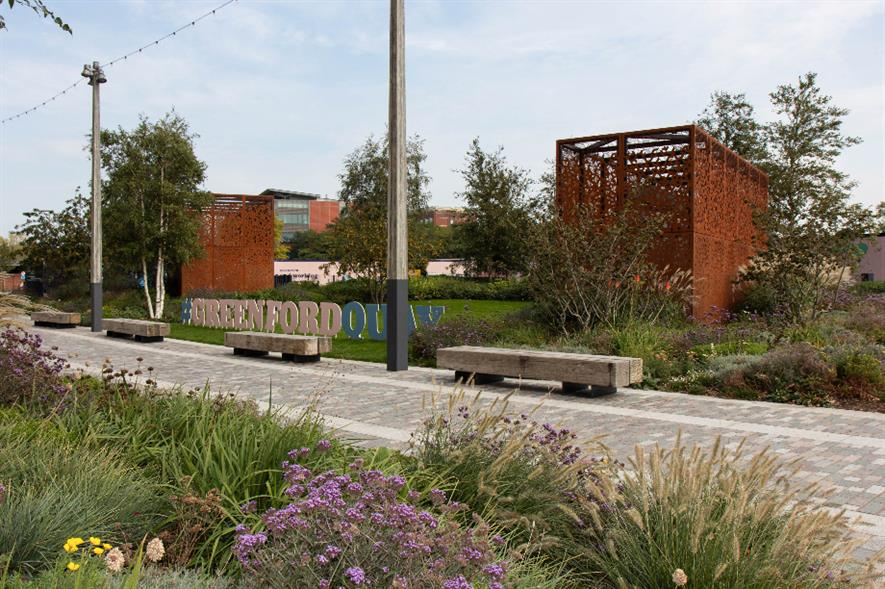 Principal Award winner Maylim - Hard Landscaping Construction (non-domestic) over £500k - Greenford Quay Phase 1B - credit: BALI