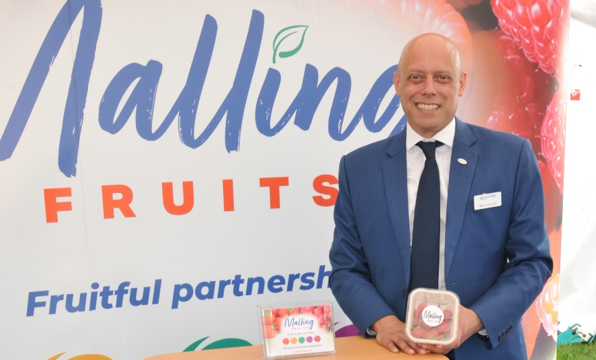 Professor Mario Caccamo, managing director of NIAB EMR at launch of Malling Fruits