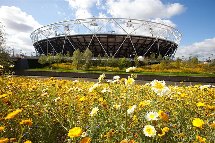 Queen Elizabeth 2012 Olympic park - image: LOCOG