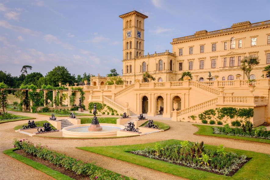 Queen Victoria's garden terrace, Osborne House - credit: English Heritage