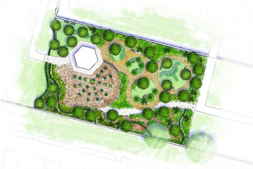 Ben Brace's design for the Wellbeing Garden. Image: RHS