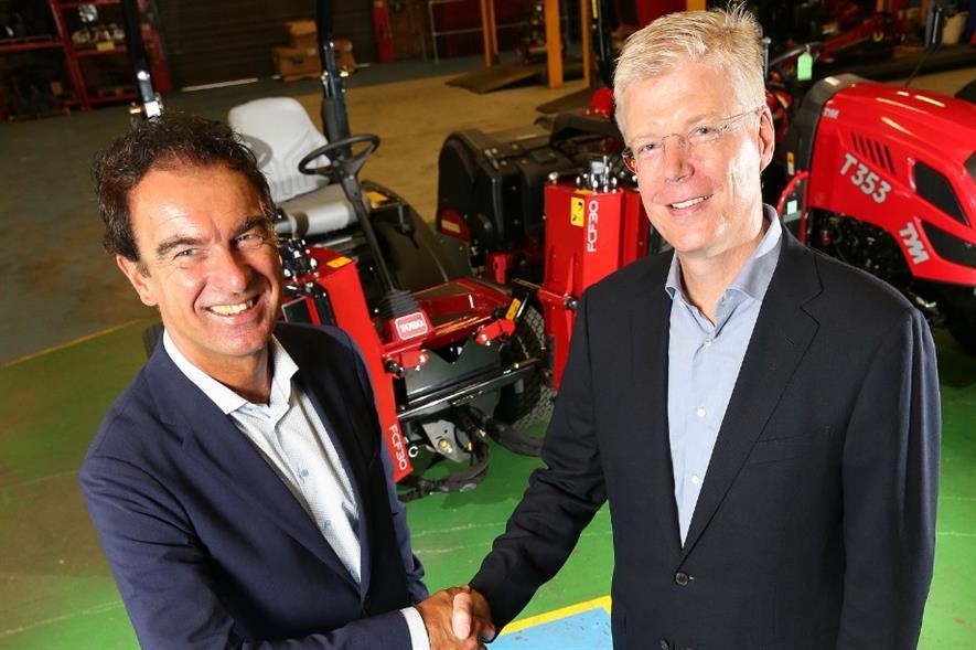 Reesink CEO Gerrit van der Scheer, left, with Lely Holding CEO Alexander van der Lely. Image: Supplied
