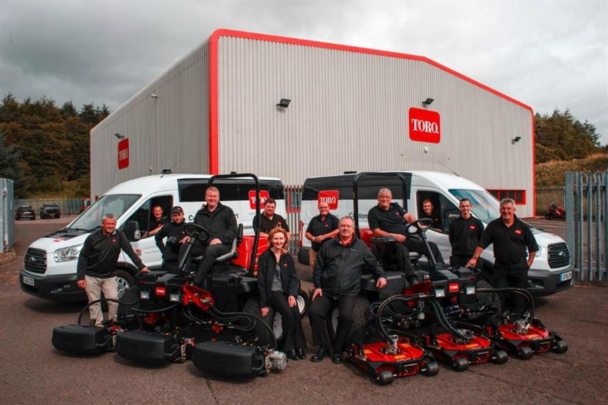 Reesink Turfcare's first Scottish service team