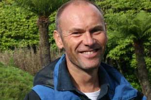 Richard Baines, curator, Logan Botanic Garden, Wigtownshire - photo: HW