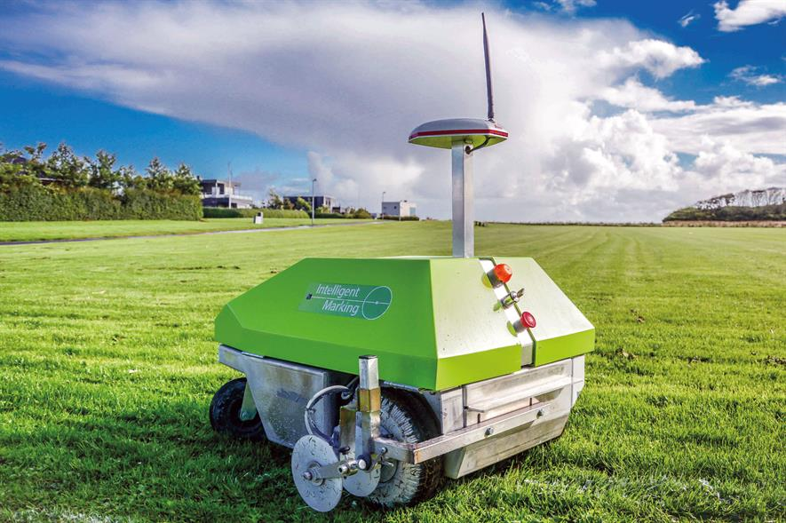 Intelligent One: robotic line-marking machine introduced by Rigby Taylor - image: Rigby Taylor