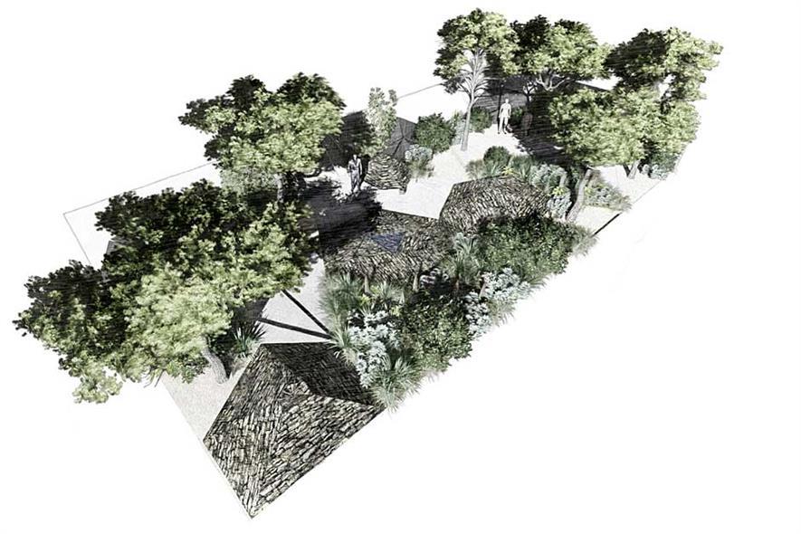Hugo Bugg's arid landscape garden for RBC at Chelsea 2016.