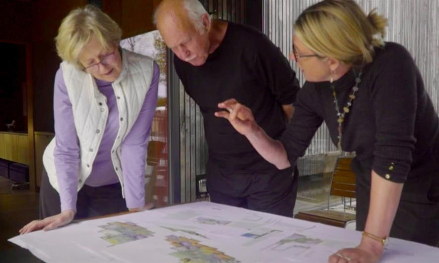 Helen Elks-Smith explains her design to clients in the video. Image: SGD