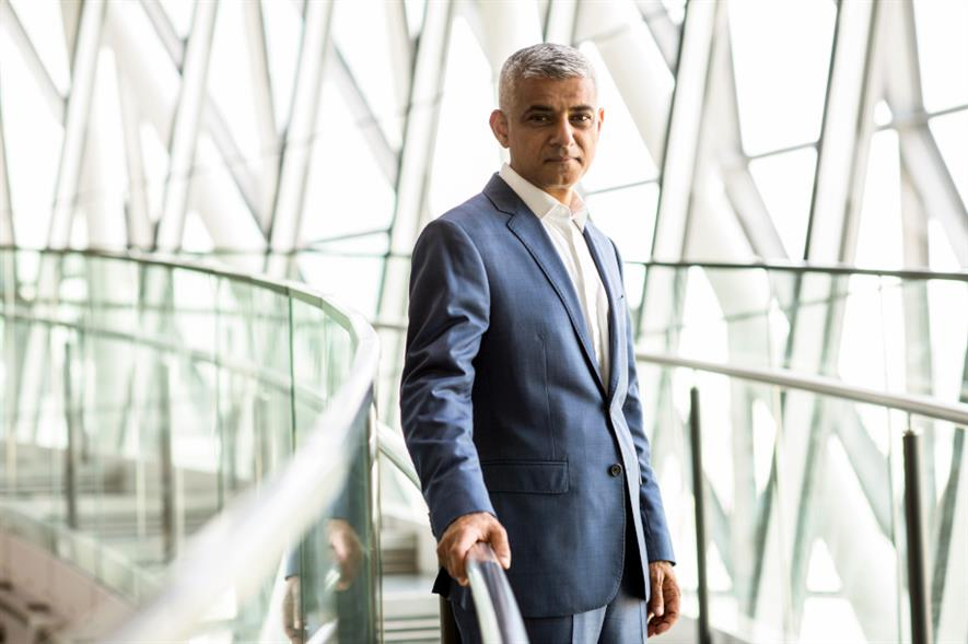 Mayor of London Sadiq Khan - image: Greater London Authority