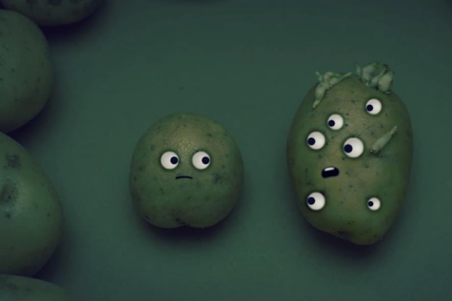 A still from Sainsbury's online video on potato storage