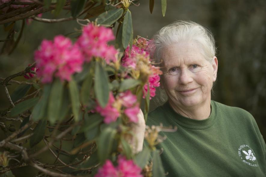 Buckland Abbey head gardener Sally Whitfield. Image: National Trust
