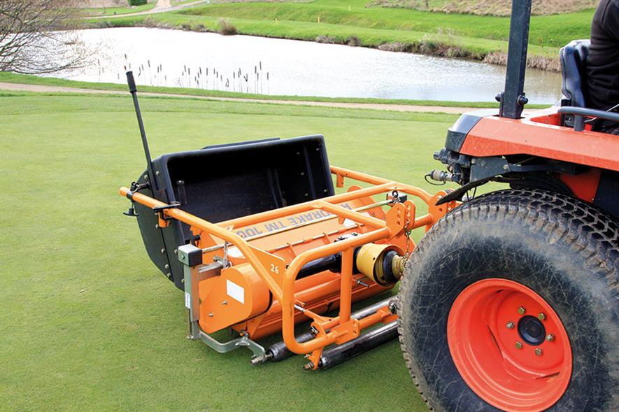 Rotorake TM1000: tractor-mounted scarifier available from Sisis - image: SISIS
