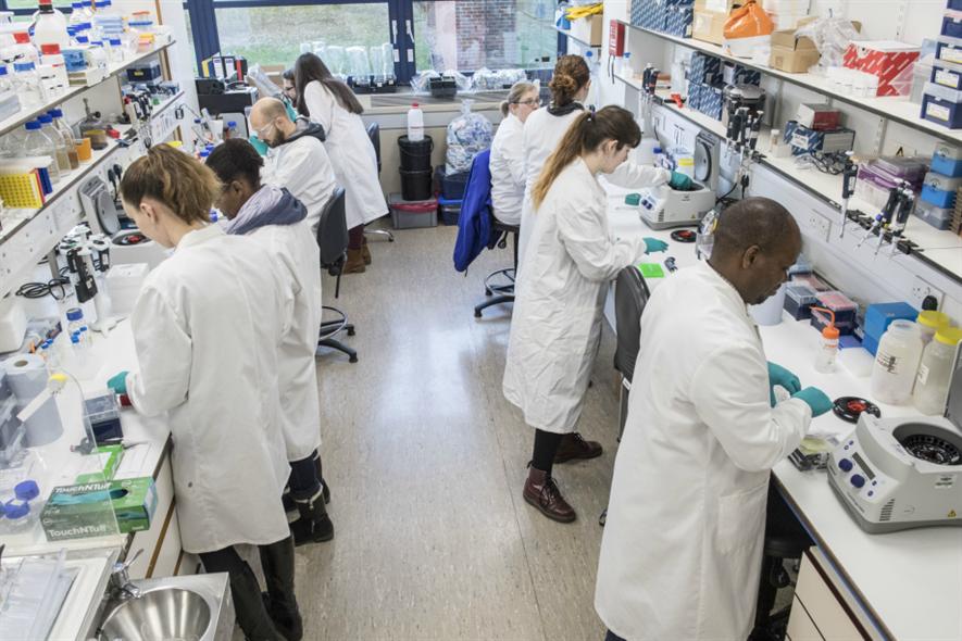 John Innes scientists at work. Image: John Innes Centre