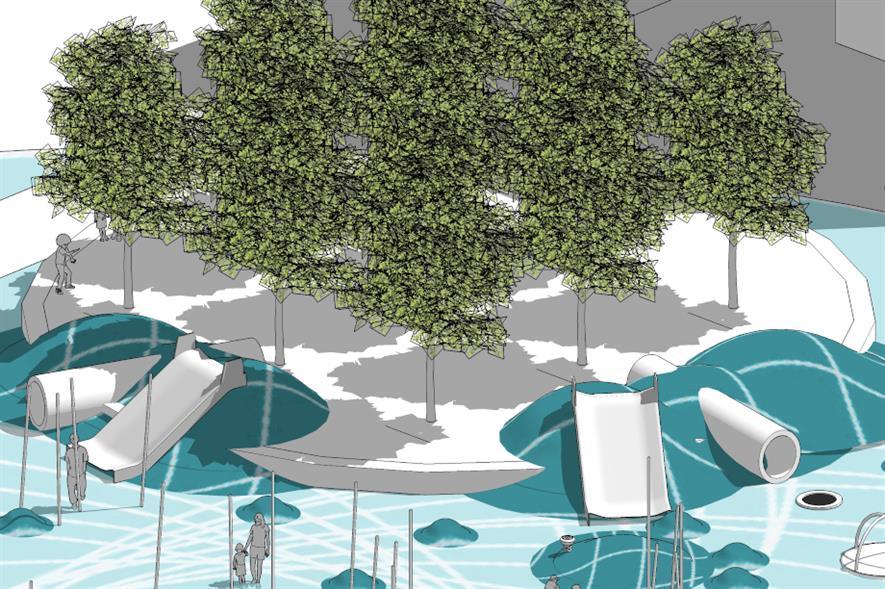 Concept drawing for sensory park at Ravenscraig - image: idverde