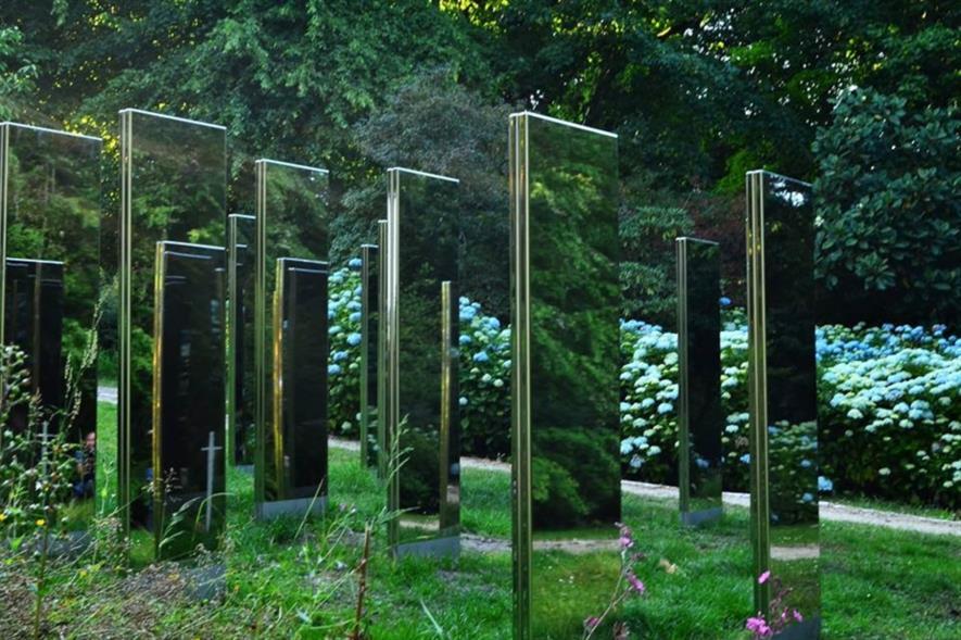 Sculpture inspired by Arran's Machrie Moor Standing Stones. Image: National Trust for Scotland