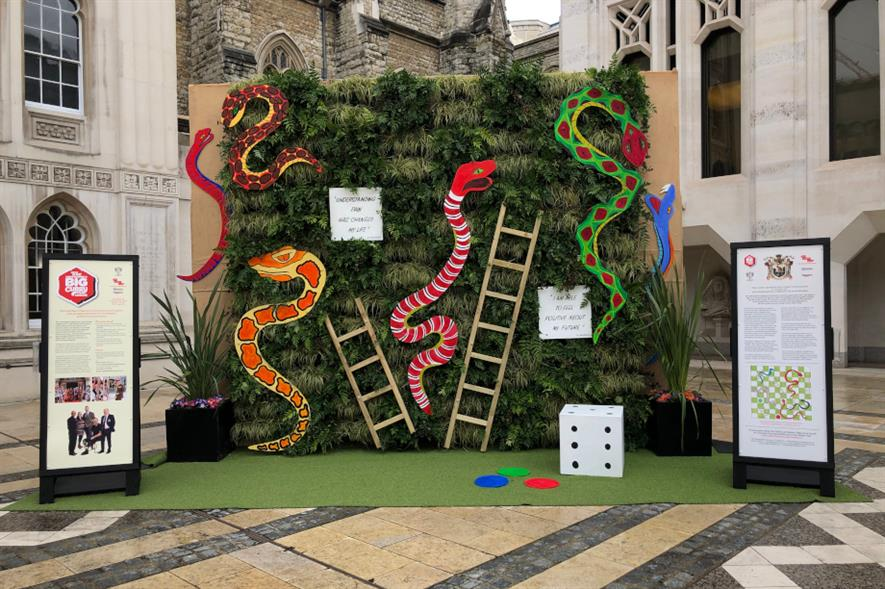 Snakes and ladders garden at London Guildhall - image: The Worshipful Company of Gardeners
