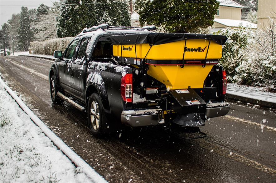 SnowEx: winter maintenance equipment includes a range of salt and grit spreaders - image: Wessex International