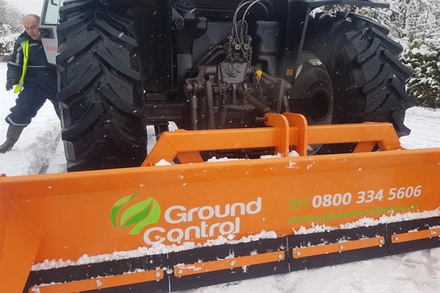The acquisition will boost Ground Control's gritting capabilities by 25 percent - image: Ground Control