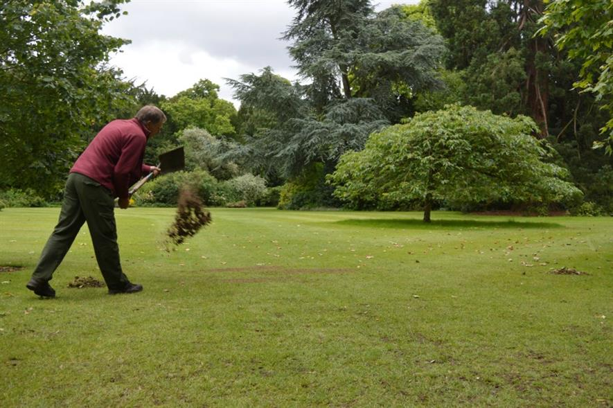 Sports & Turf being tested on Kings College, Cambridge lawns