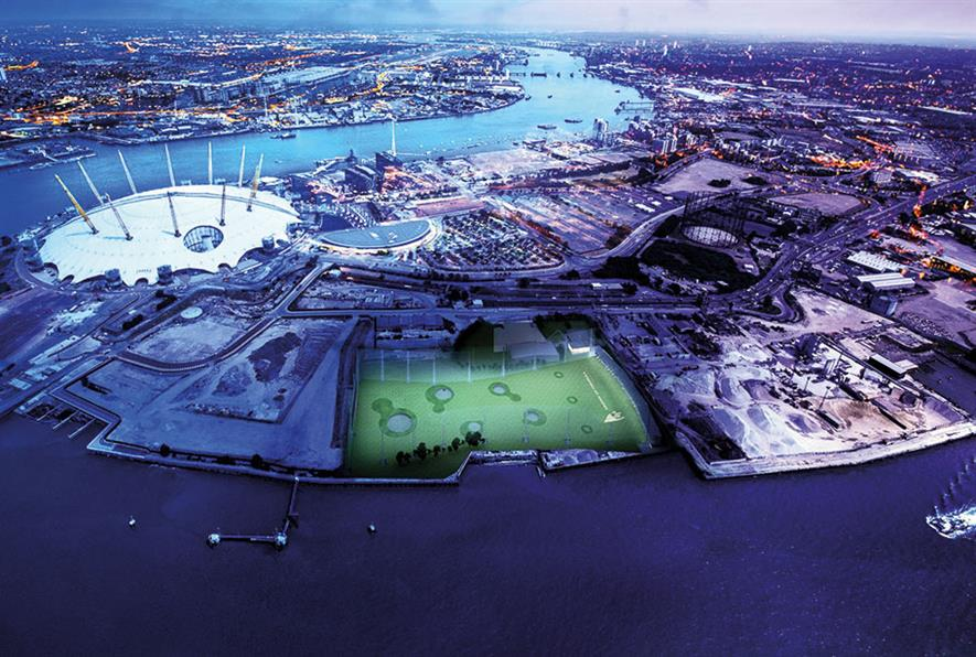 Blakedown Sport and Play's project at Greenwich Peninsula Golf - image: BALI