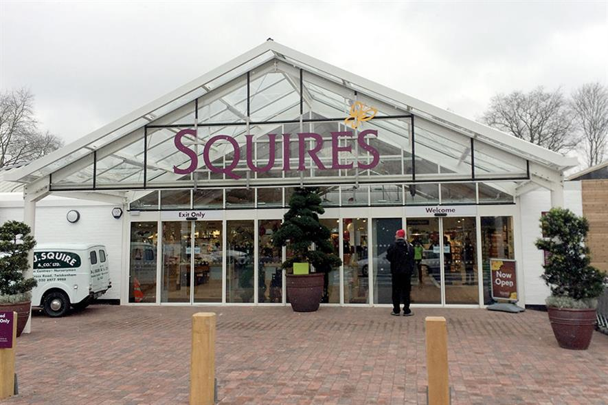 Squire's Woking: revamped garden centre features larger planteria, outdoor canopy, bigger shop and café bar with verandah - all images: HW